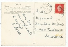 DULAC 2FR40 N°693 SEUL CARTE PARIS 9.10.1945 POUR SUISSE RARE AU TARIF SIGNE CALVES - 1944-45 Marianna Di Dulac