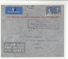 Gold Coast / Airmail / 1937 Coronation / Nigeria - Sin Clasificación