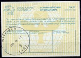 SOUTH AFRICA / AFRIQUE DU SUD La30 InternationalReply Coupon Reponse IRC IAS Antwortschein O WITFIELD 12.5.2000 - Briefe U. Dokumente