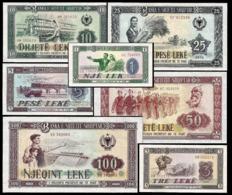 * Albania 1 3 5 10 25 50 100 Leke 1976 ! UNC ! Full Set 7 Ps - Albania
