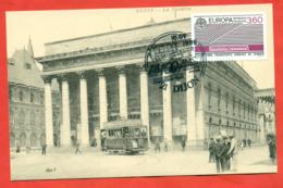 France 1988. Cartmaximum. City Dijon. - Tramways