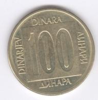 YUGOSLAVIA 1989: 100 Dinara, KM 134 - Jugoslawien
