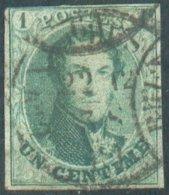 N°9 - Médaillon 1 Centime Vert, TB Margé - 14757 - 1851-1857 Medaillons (6/8)
