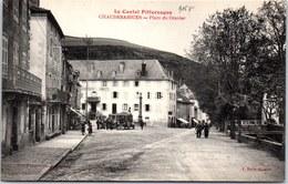 15 CHAUDESAIGUES - Vue De La Place Du Gravier. - Altri Comuni