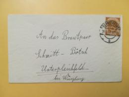 1952 BUSTA GERMANIA DEUTSCHE BOLLO CORNO POSTALE ANNULLO SCHWEINFURT OBLITERE' GERMANY - [7] Repubblica Federale