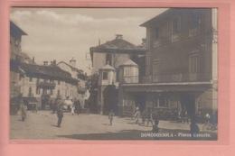 OLD PHOTO POSTCARD - ITALY - ITALIA - DOMODOSSOLA - ANIMATED STREET SCENE - Verbania