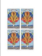 KB892 - BLOC 4 VIGNETTES FETE FEDEARALE UNION DES SOCIETES DE GYMNASTIQUE ALGER - ALGERIE 1930 - Algérie (1924-1962)