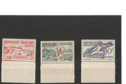 France 1953 Paires Bord De Feuille Des N° 960** à 962** - Natation Athlétisme Escrime - Ongebruikt
