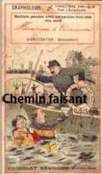 Chromo Chocolat REVILLON - Graphologie - Scans Recto-verso - Revillon