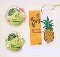 Fruit Label Pineapple Pomelo Taiwan - Obst Und Gemüse