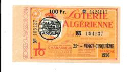 KB929 - BILLET DE LOTERIE ALGERIENNE - EMISSION GEORGES CHABASSEUR ALGER ORAN - 1954 - Loterijbiljetten