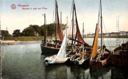 Nieuwpoort Barques à Quai Sur L'Yser Nieuport (couleurs) - Nieuwpoort
