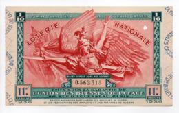 - BILLET DE LOTERIE NATIONALE 1936 - 11e TRANCHE - UNION DES BLESSÉS DE LA FACE (les Gueules Cassées) - - Loterijbiljetten