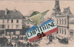 CPA MEULAN YVELINES PLACE GENCY JOUR DE MARCHE - Meulan