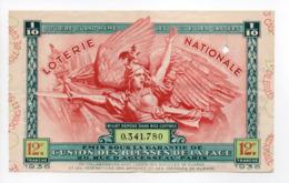 - BILLET DE LOTERIE NATIONALE 1936 - 12e TRANCHE - UNION DES BLESSÉS DE LA FACE (les Gueules Cassées) - - Loterijbiljetten