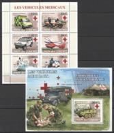 UC111 2008 UNION DES COMORES LES VEHICULES MEDICAUX 1KB+1BL MNH - Camion
