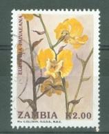 Zambia: 1992   Orchids    SG693   K2     Used - Zambia (1965-...)