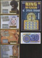 Tickets à Gratter  - LOTERIE NATIONALE Belge - 6 SPECIMENS Dont Bande BLING BLING - Billets De Loterie