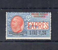 Italia - Regno - 1921 - Espresso Per L'Estero Del 1908 Sovrastampato 1,20 Lire - Nuovo ** - (FDC18415) - 1900-44 Victor Emmanuel III.