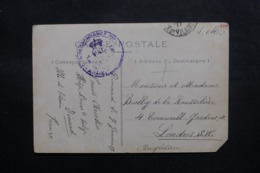BELGIQUE - Carte Postale En Franchise De Dinard Pour Londres En 1917 - L 47437 - Guerra '14-'18