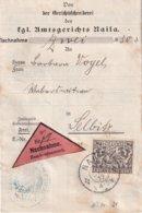 BAYERN 1917 LETTRE CONTRE REMBOURSEMENT AMTSGERICHT NAILA - Bayern
