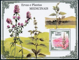 [401636]TB//**/Mnh-Sao Tomé-et-Principe 2010 - Plantes Médicinale, Fleurs Diverses - Medicina