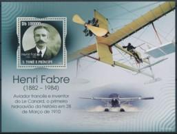 [401682]TB//**/Mnh-Sao Tomé-et-Principe 2009 - Henri Fabre, Inventeur, Avions - Vliegtuigen
