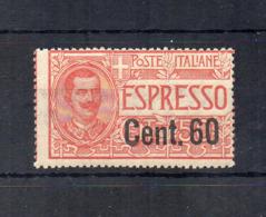 Italia - Regno - 1922 - Espresso Del 1920 Sovrastampato Cent. 60 - Nuovo ** - (FDC18416) - 1900-44 Victor Emmanuel III.
