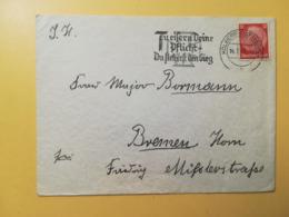 1940 BUSTA GERMANIA DEUTSCHE  BOLLO PAUL VON HINDENBURG  ANNULLO KOLBERG ETICHETTA OBLITERE' GERMANY - Germania