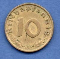 Allemagne  -  10 Reichspfennig 1938 F -  état TTB - [ 4] 1933-1945 : Tercer Reich