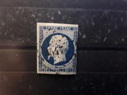 Empire No 14 A A Bleu Foncé Obl Pc 3547 De LE VEURDRE , Allier , Indice 12 .BTB Belle Frappe - 1853-1860 Napoléon III
