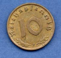 Allemagne  -  10 Reichspfennig 1939 F -  état TTB+ - [ 4] 1933-1945 : Tercer Reich