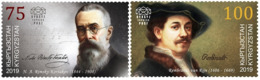 Kyrgyzstan 2019 Set 2 V MNH Russian Composer Nikolai Rimsky-Korsakov.  Painter Rembrandt Music Painting - Rembrandt