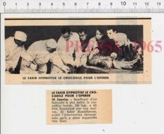 Humour Fakir Karakhavan Hypnotisme Métier Vétérinaire ? Soins Opération Sur Le Crocodile Surah Vétérinaires ??  PF14 - Vecchi Documenti