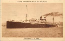 """PAQUEBOT - """"El Biar"""", Cie De Navigation Mixte (Cie Touache). - Paquebots"""