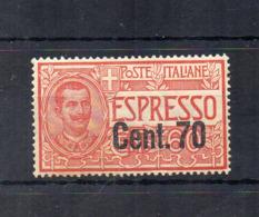 Italia - Regno - 1924/25 - Espresso Sovrastampato 70 Centesimi - Nuovo ** - (FDC18423) - 1900-44 Victor Emmanuel III.