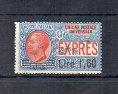 Italia - Regno - 1924/25 - Espresso Sovrastampato 1,60 Lire - Nuovo ** - (FDC18424) - 1900-44 Victor Emmanuel III.