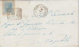 S. Maria Capua A Vetere. 1867. Annullo Numerale Doppio Cerchio A Punti, Su Lettera Completa Di Testo - 1861-78 Vittorio Emanuele II