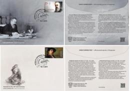 Kyrgyzstan 2019 Set 2 FDC Russian Composer Nikolai Rimsky-Korsakov.  Painter Rembrandt Music Painting - Rembrandt