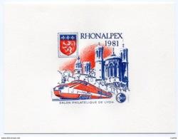 RC 14508 FRANCE BLOC CNEP N° 2 EPREUVE DE LUXE RHONEALPEX TGV LYON 1981 NEUF ** TB MNH - CNEP
