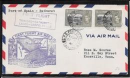 Trinidad & Tobago 1946- Ffc Port Of Spain To Usa Via Gambia ( Ref.968a ) - Trindad & Tobago (...-1961)