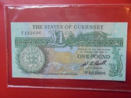 GUERNESEY ONE POUND 1980-89 PEU CIRCULER/NEUF (B.9) - Guernsey