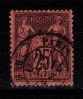 Sage Type II - YV 91 Oblitere Paris , TTB Pas Aminci Cote 30 Euros - 1876-1898 Sage (Type II)