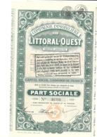 Cie Immobilière Du Littoral-Ouest - 1929 - Actions & Titres