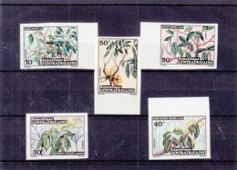 Centrafricaine - Yvert 191 / 95 ** - NON Dentelé - Plantes - Fleurs - Faible Tirage - Central African Republic
