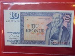 ISLANDE 10 KRONUR 1961(81) PEU CIRCULER/NEUF (B.9) - IJsland