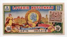 - BILLET DE LOTERIE NATIONALE 1941 - 24e TRANCHE - DEBITANTS DE TABAC - - Loterijbiljetten