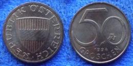 AUSTRIA - 50 Groschen 1994 KM# 2885 Republic Post-WWII Decimal Coinage (1947) - Edelweiss Coins - Austria