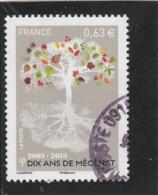 FRANCE 2013 DIX ANS DE MECENAT 4795 OBLITERE - - Frankreich