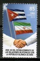 Cuba 2019 / Flags Iran Diplomatic Relations MNH Banderas Flagge /  Cu15126  C4-5 - Cuba